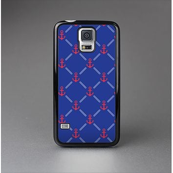 The Red & Blue Seamless Anchor Pattern Skin-Sert Case for the Samsung Galaxy S5
