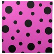 Cloth Napkins (set of 4) with Black Dots on Pink