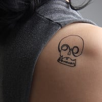 Skull Love - Temporary Tattoo (Set of 2)