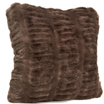 Taupe Mink Faux Fur Pillows by Fabulous Furs
