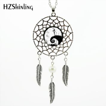 2017 Trendy moon nightmare before christmas Necklace nightmare before christmas jack Pendant Dream Catcher Necklace -00280