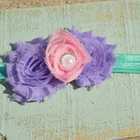 Mermaid Headband/ Pink Purple Headband/ Pearl Headband/ Chic Headband/ Easter Headband/ Pastel headband