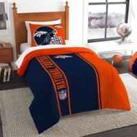 Denver Broncos Twin Comforter Bed Set