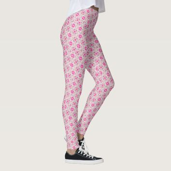 Geometric Pink Leggings