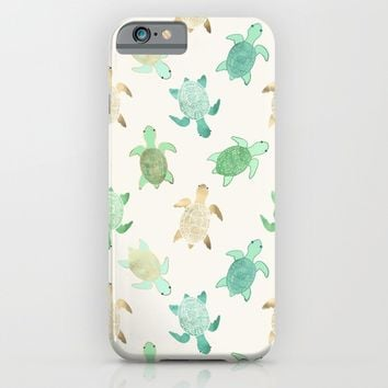 Gilded Jade & Mint Turtles iPhone & iPod Case by Tangerine-Tane | Society6