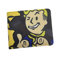 Free Shipping Game Fallout Wallet for Young With Card Holder Dollar Price