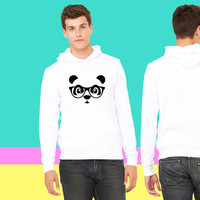 panda with glasses sweatshirt hoodiee