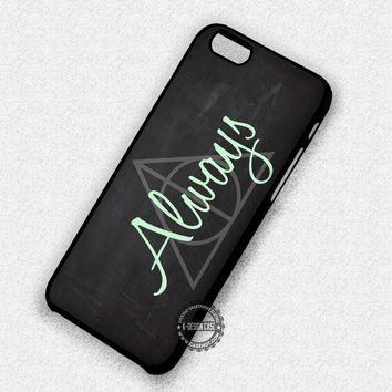 Blackboard Harry Potter Always Deathly Hallows - iPhone 7 Plus 6 5 4 Cases & Covers