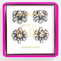 Women's BaubleBar 'Foliage' Stud Duo Earring Set - Clear