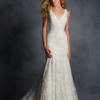 Alfred Angelo 2501 Lace Tank Fit & Flare Wedding Dress