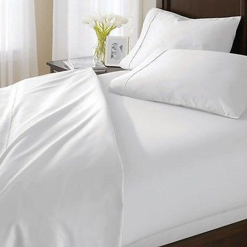 Bh&G 400 Thread Count Egyptian Cotton Full Sheet Set, White