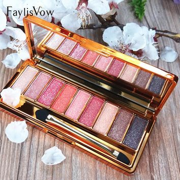 9 Colors Bright Diamond Smoky Makeup Eyeshadow Palette Make Up Set Eye Shadow Maquillage Professional Cosmetic With Brush