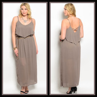 Make Me a Mocha Late Dress/Curvy