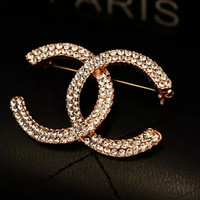 iOffer: gold plated brooch for lady women girls brand 4.0*2.6 for sale