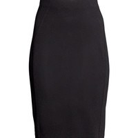 H&M - Pencil Skirt - Black - Ladies