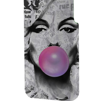 Best 3D Full Wrap Phone Case - Hard (PC) Cover with Marilyn Monroe Artpop Bubble Gum Design