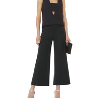 Patch Pocket Cropped Wool Pants