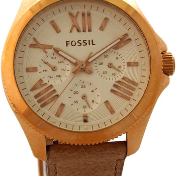 Fossil - AM4532P Cecile Multifunction Sand Leather Watch