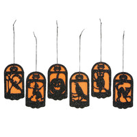 Mini Halloween Pannel Ornament Set