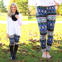 Colors of Christmas Fleece Line Leggings