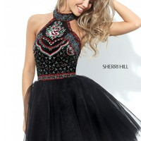 Sherri Hill 50707 Embroidered Short Dress | RissyRoos.com