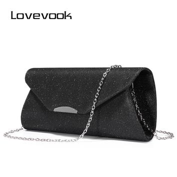 LOVEVOOK fashion women evening clutches bag female crossbody bags ladies envelope purse  for party with chains