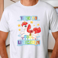 Adult Unicorn Shirt, Unisex T-Shirt, Unicorn shirt for men, Time to Unicorn, Unicorn gift tshirt, 100% cotton, Unicorn Tee, + Freebie