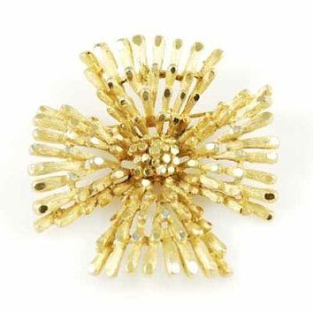 "Vintage Coro Goldtone ""Maltese Cross"" Brooch 1950'S"