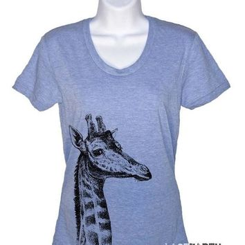 Giraffe Tshirt - Womens T-Shirt Giraffe Gifts For Her Gift Ideas Womens Graphic Tees Mens Tshirt Kids Tshirt Vintages Tees