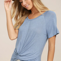 Basic is Best Slate Blue Tee