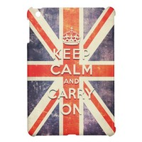 Vintage Union Jack flag keep calm and carry on Case For The iPad Mini from Zazzle.com