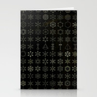 Dark Ice Crystals Stationery Cards by Blue Specs Studio