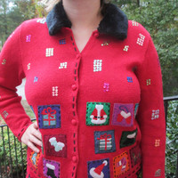 Tacky Christmas Sweater, Tacky Sweater, Christmas Sweater,Tacky Holiday Sweater, Holiday Sweater, Red sweater,