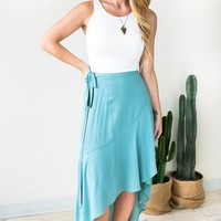 Catching Glances Wrap High Low Skirt