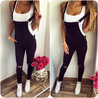 2016 Autumn Women's Trending Popular Fashion Casual Cute Top Straps Romper Jumpsuit  _ 9214