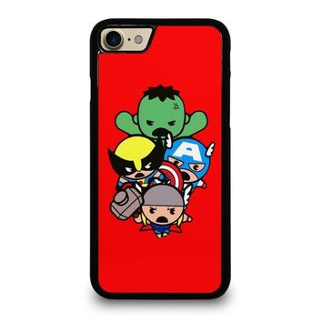 kawaii captain america hulk thor wolverine marvel avengers case for iphone ipod samsung galaxy  number 1