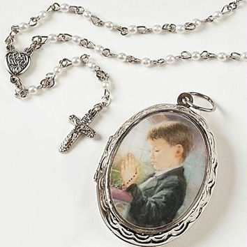 2 Rosaries And Lockets - Boy's First Communion