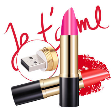 USB Flash Drive Fashion 64GB Lipstick Pendrive USB Stick Popular Gift for Girls Pen Drive Free Shipping New Arrival Flash Card