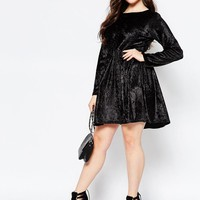 Boohoo Plus | Boohoo Plus Velvet Swing Dress at ASOS