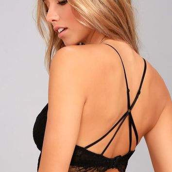 Dream Delight Black Lace Bralette