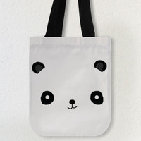 Cute Panda Face 10.2x 11 10.2 x11.8 Tote Bags, Creative Tote, Handbags, Canvas tote bags