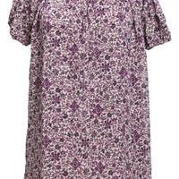 ROMWE | Puff Sleeve Floral Dress, The Latest Street Fashion