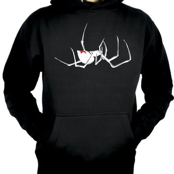 Black Widow Spider Pullover Hoodie Sweatshirt Alternative Occult Clothing Arachnid
