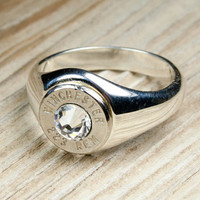 Winchester Solid 925 Sterling Silver Band Nickel by BulletDesigns