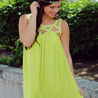 To Be Loved Dress - Lime