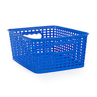 Small Blue Rattan Basket
