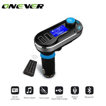 3 Color Car Kit MP3 Mucsic Player Wireless FM Transmitter Handsfree Radio Modulator SD LCD Dual USB Charger for iPhone Samsung