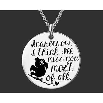 Scarecrow Necklace | Missing You Gift | Wizard of Oz