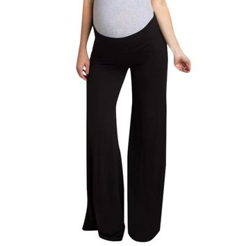 Fashion Wide Leg Pants For Pregnant Women