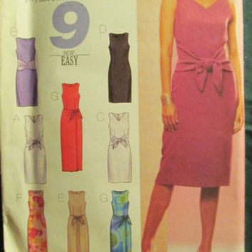 SALE Uncut Butterick Sewing Pattern, 3440! 12-14-16/Medium/Large/Women's/Misses/Petite/Close Fitting Lined Dresses/knee length/Drape/Overlay